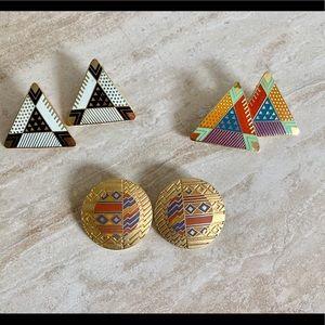 3 pairs Laurel Burch earrings, four seasons, zulo